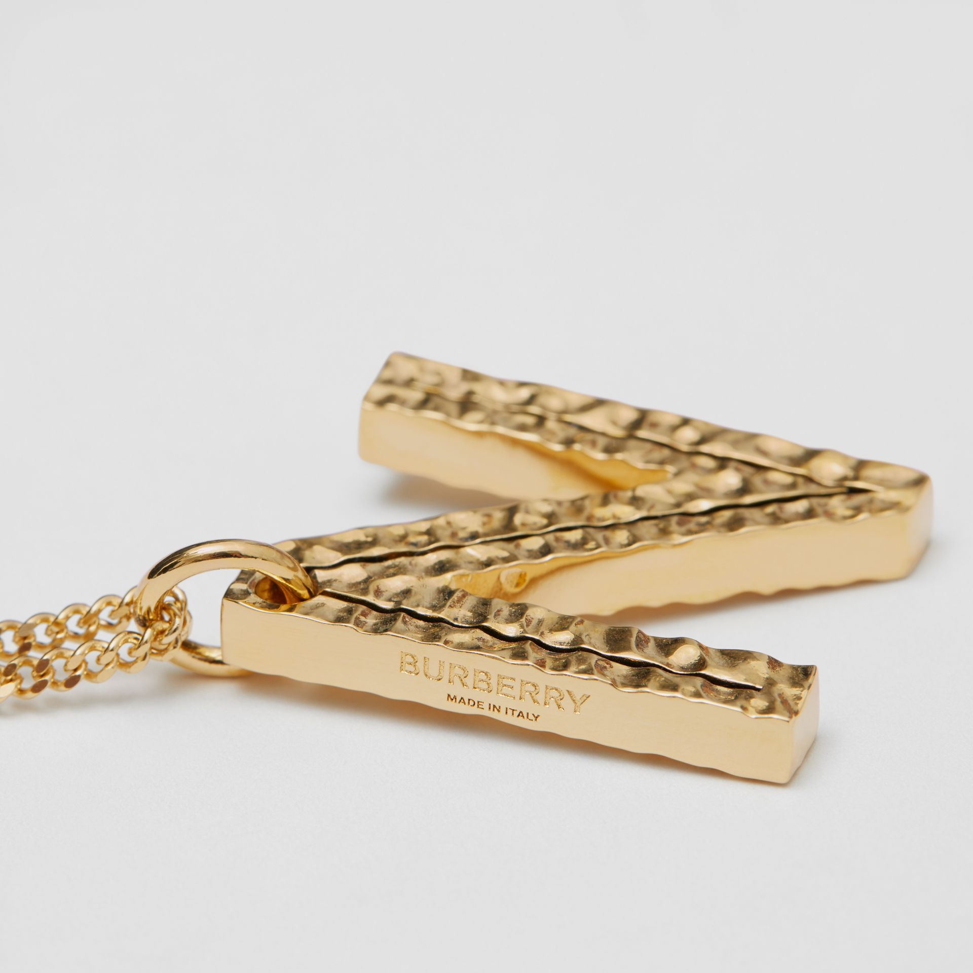 'N' Alphabet Charm Gold-plated Necklace in Light - Women | Burberry United Kingdom - gallery image 1
