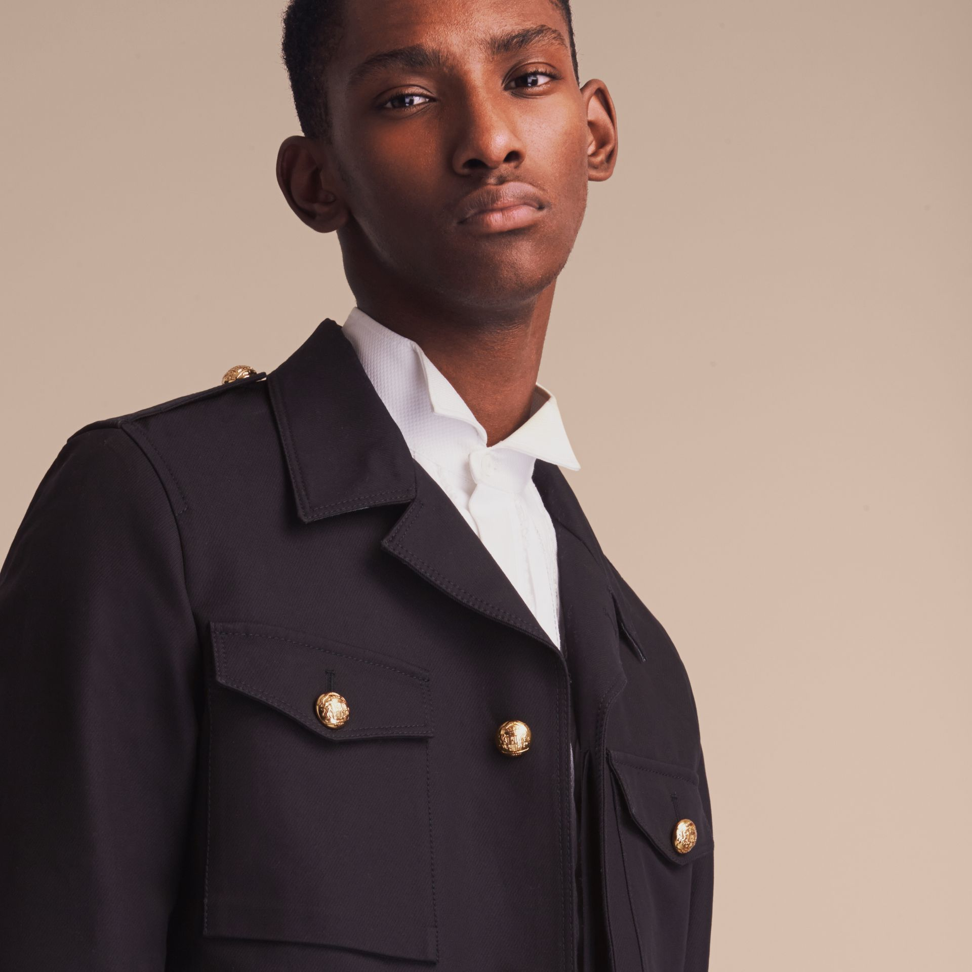 Military Detail Cotton Twill Field Jacket - gallery image 5