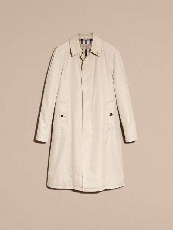 Long Cotton Gabardine Car Coat - cell image 3