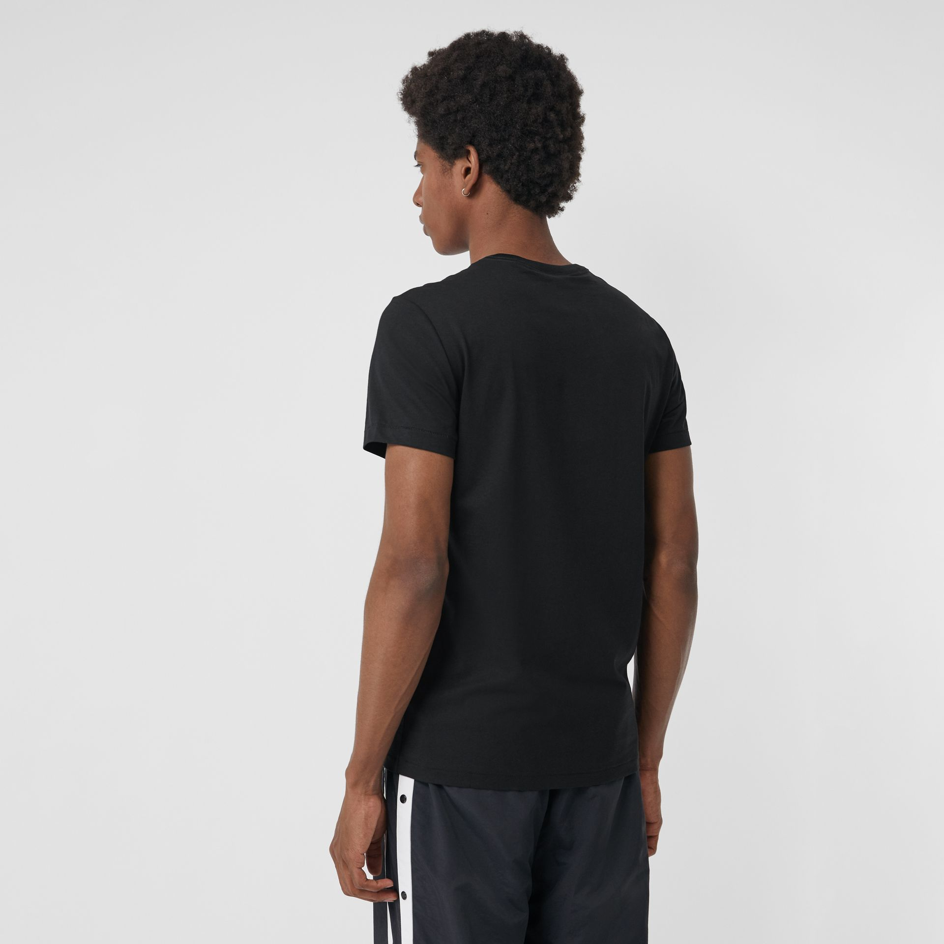Cotton Jersey T-shirt in Black - Men | Burberry Australia - gallery image 2