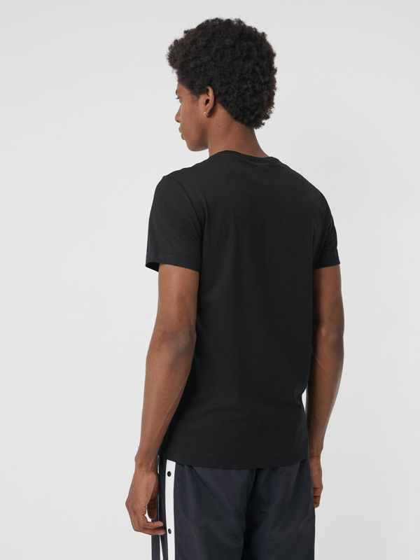 Cotton Jersey T-shirt in Black - Men | Burberry Hong Kong - cell image 2