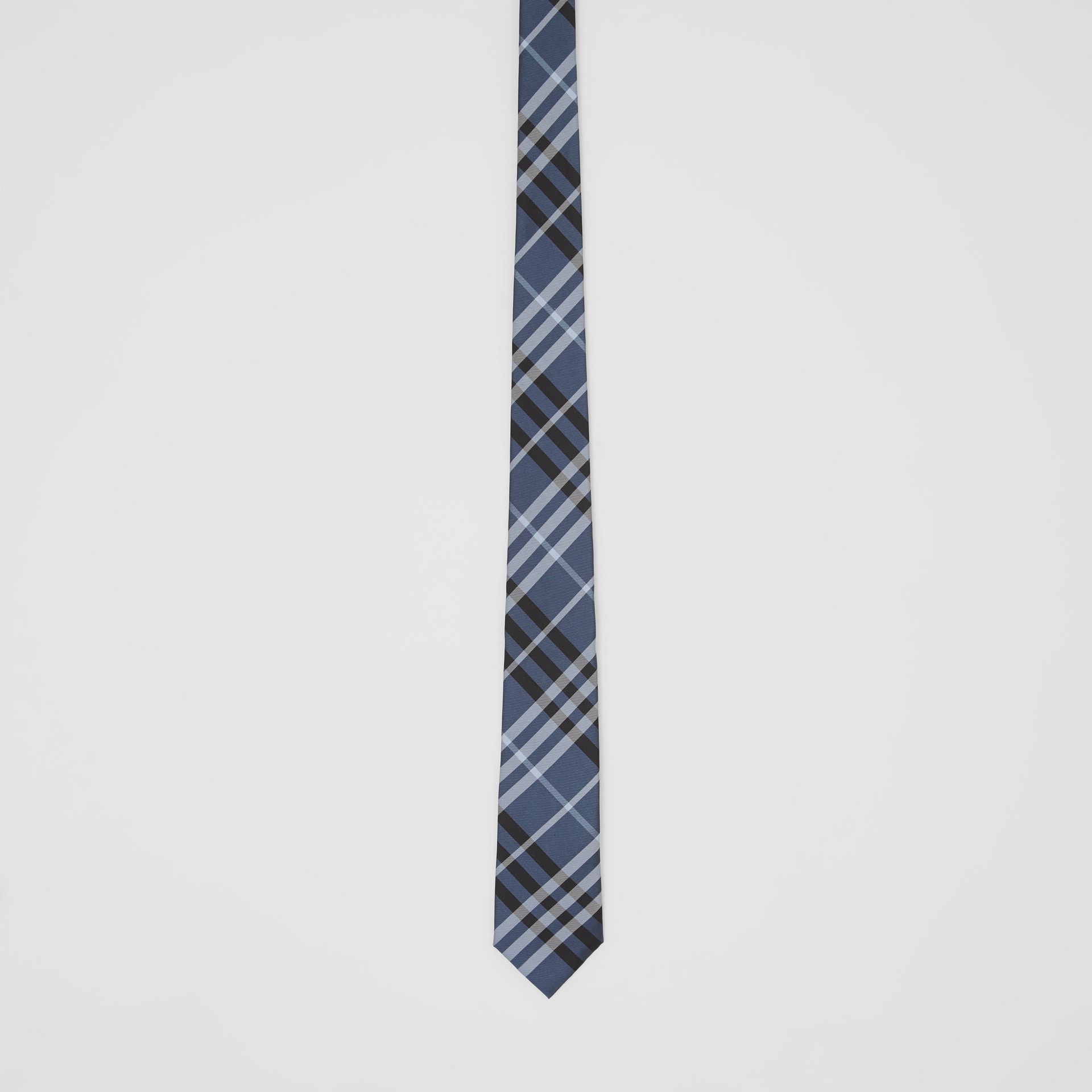 Classic Cut Vintage Check Silk Tie in Steel Blue - Men | Burberry - gallery image 3