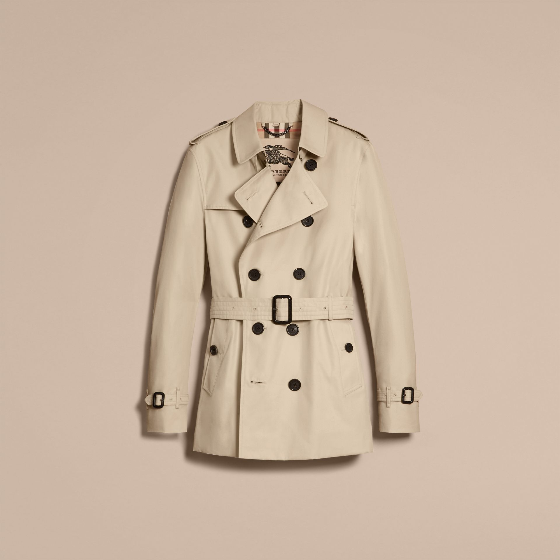 Stone The Sandringham – Short Heritage Trench Coat Stone - gallery image 4