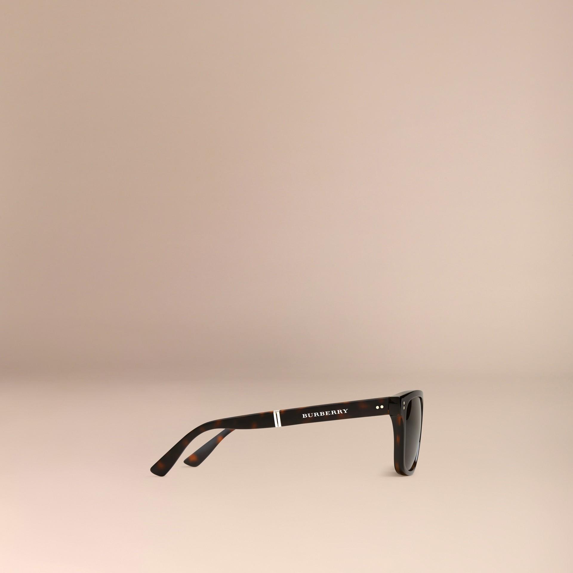 Marrone scuro Occhiali da sole con montatura rettangolare pieghevole Marrone Scuro - immagine della galleria 5