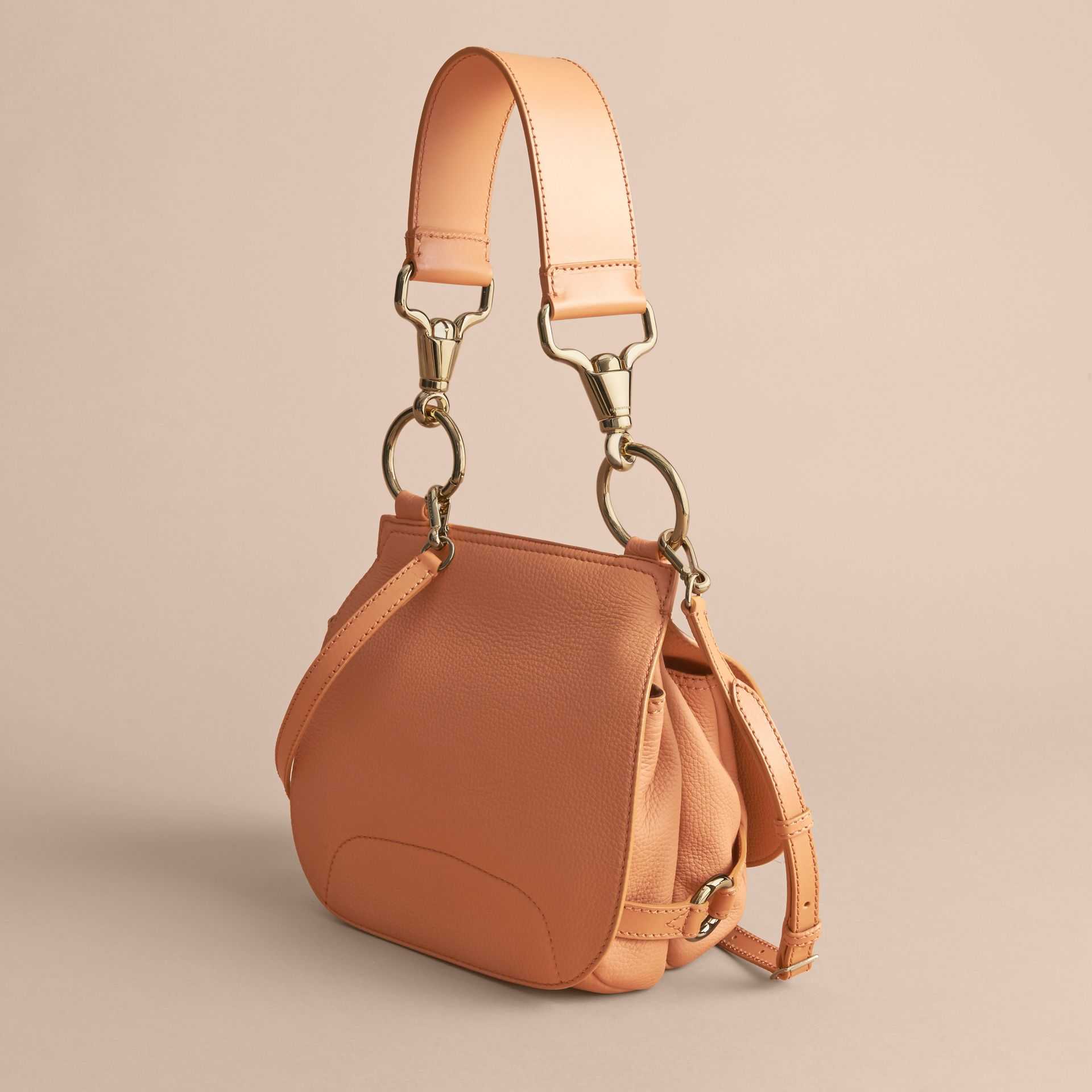 The Bridle Bag in Deerskin in Pale Clementine - Women | Burberry - gallery image 5