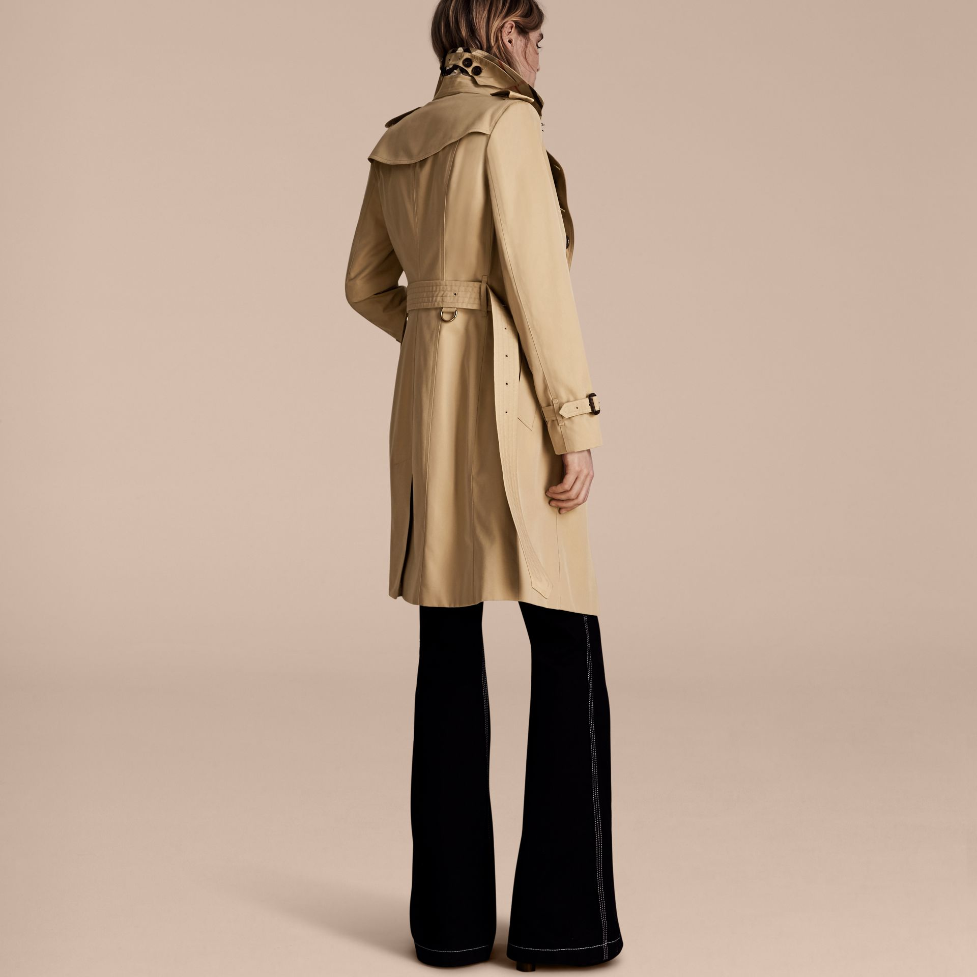 Honey The Sandringham – Long Heritage Trench Coat Honey - gallery image 3
