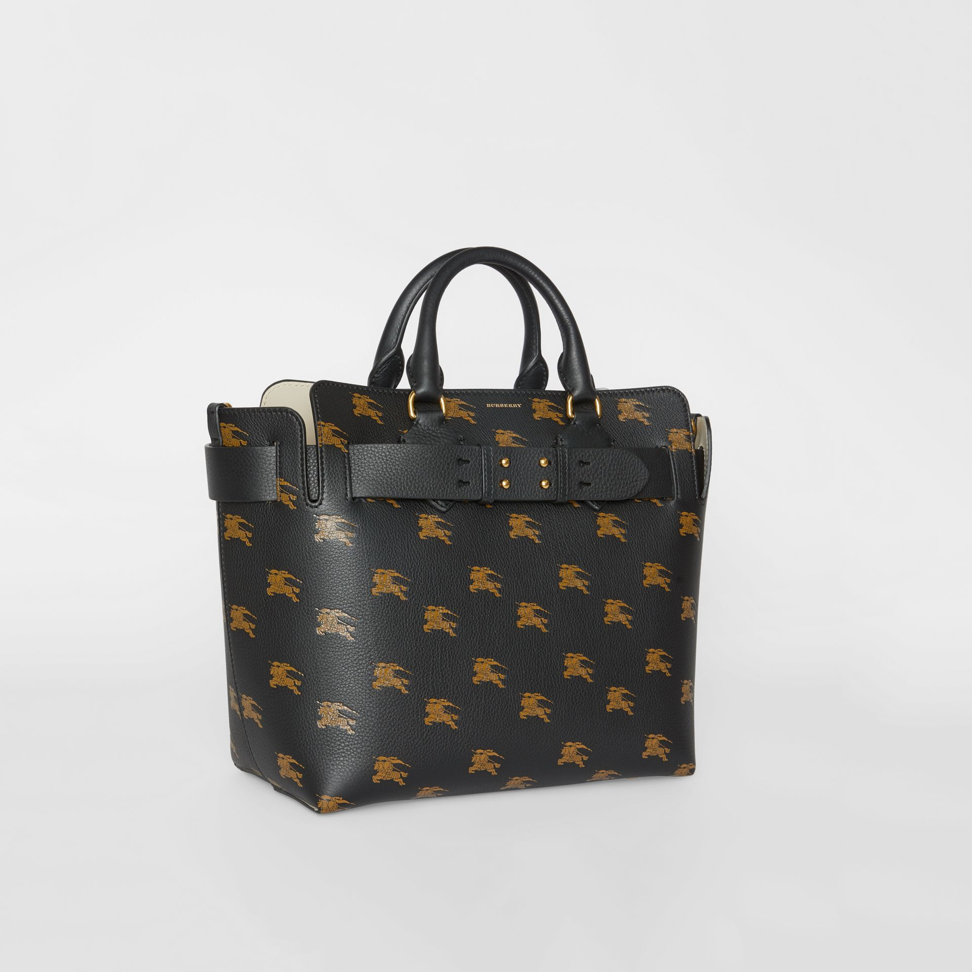 Borsa The Belt media in pelle con cavaliere equestre (Nero) - Donna | Burberry - immagine della galleria 6