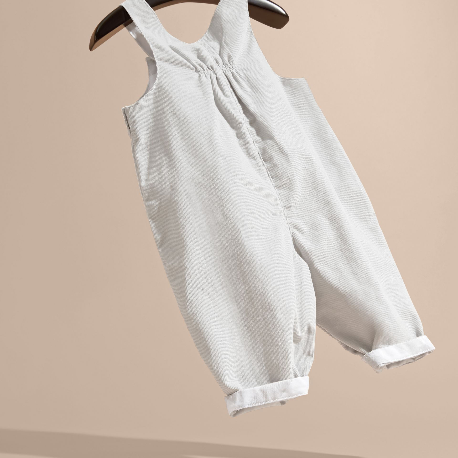 Mid grey Cotton Corduroy Dungarees - gallery image 4