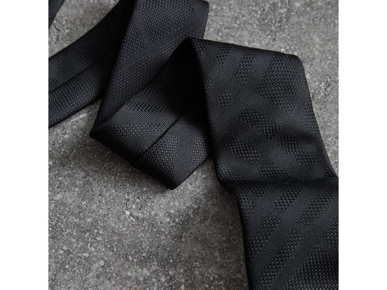 Modern Cut Check Silk Tie in Black - Men | Burberry Hong Kong - cell image 1