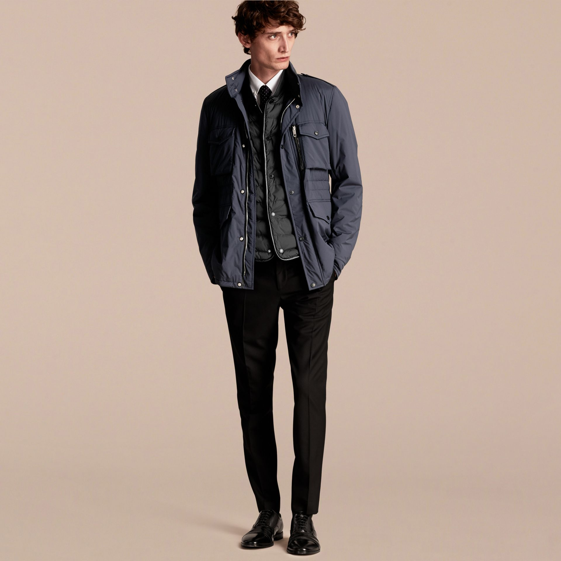 Lightweight Field Jacket with Detachable Gilet - Men | Burberry - gallery image 8