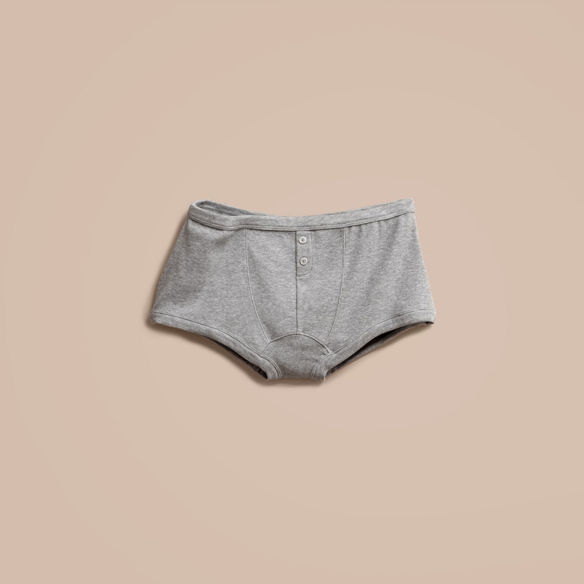 Pale grey melange Stretch Cotton Lyocell Boxer Briefs Pale Grey Melange - gallery image 4
