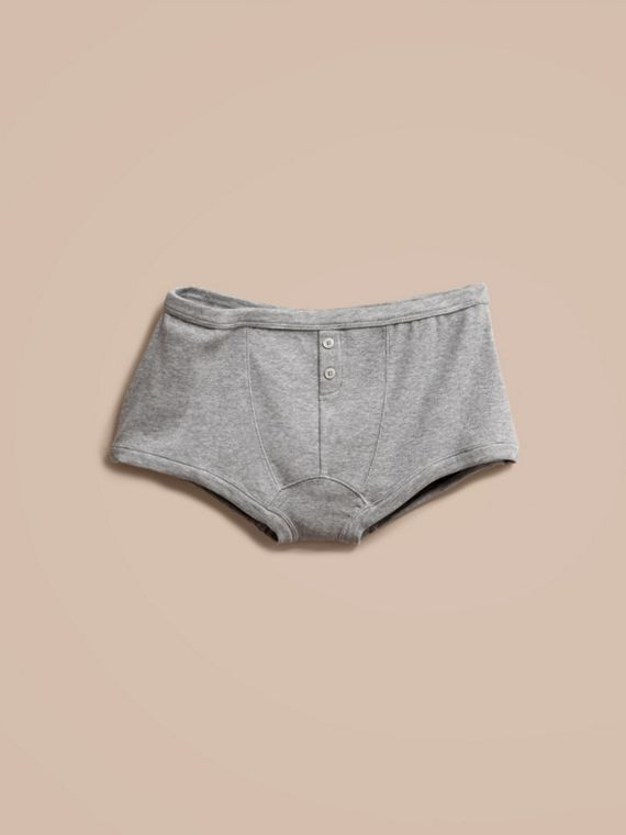 Pale grey melange Stretch Cotton Lyocell Boxer Briefs Pale Grey Melange - cell image 3