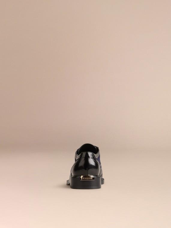 ネイビー レザー&スエード・ウィングチップブローグ - cell image 3