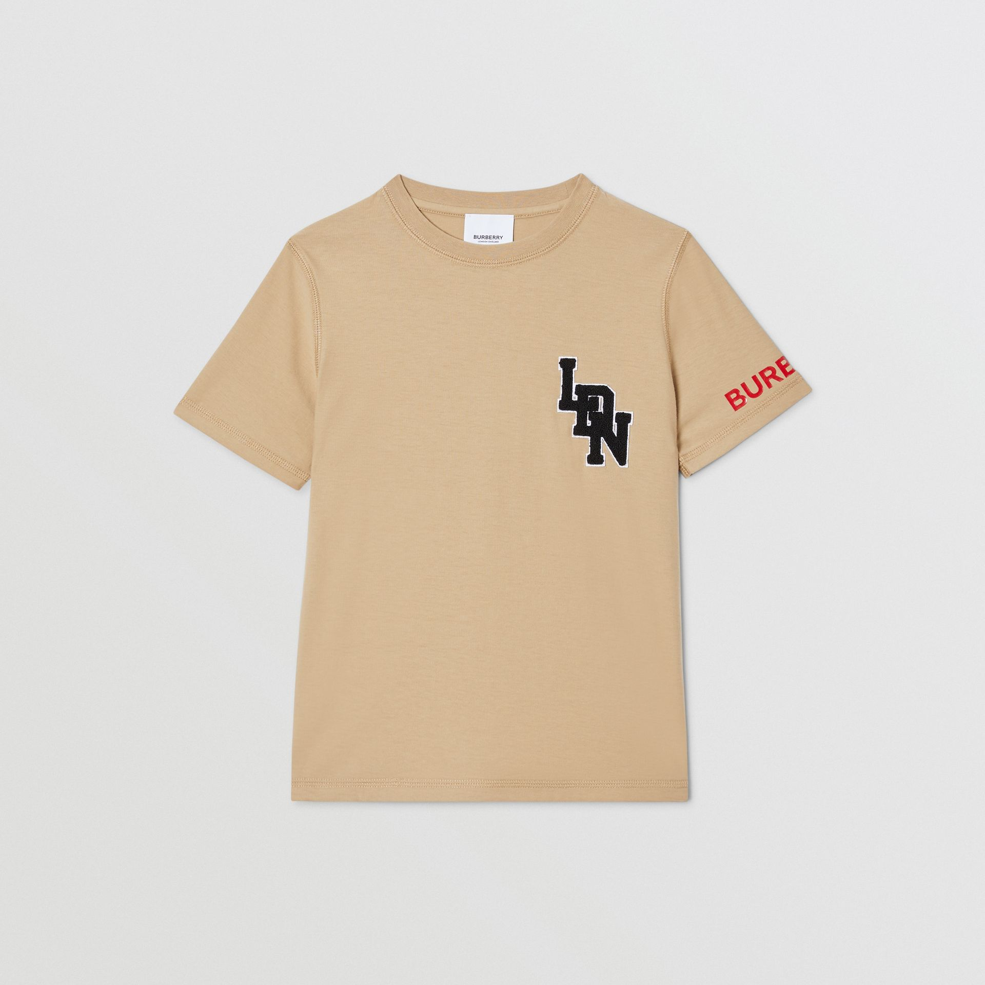 Logo Graphic Cotton T-shirt in Archive Beige | Burberry United Kingdom - gallery image 0