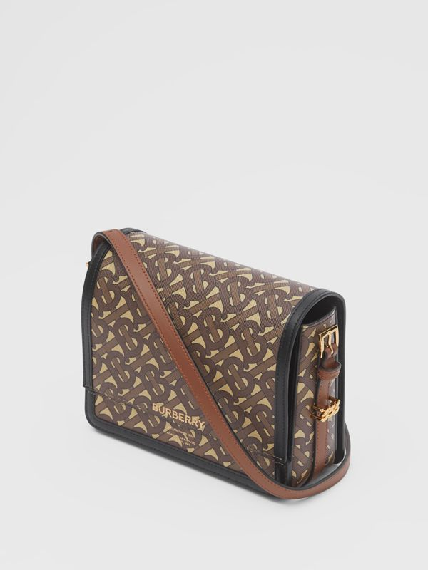 Small Monogram Print E-canvas Grace Bag in Bridle Brown - Women | Burberry - cell image 3
