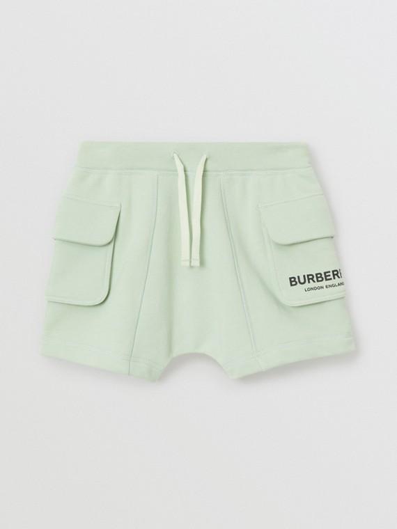 Short à cordon de serrage en coton avec logo (Menthe Pâle)