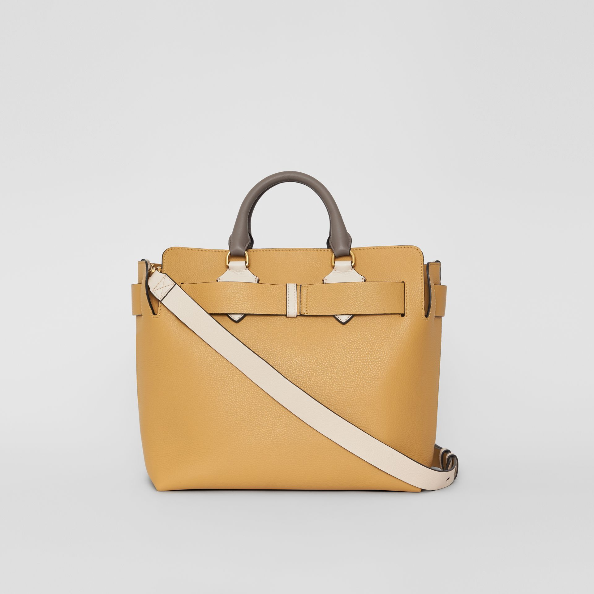 The Medium Tri-tone Leather Belt Bag in Limestone / Cornflower Yellow - Women | Burberry - gallery image 7