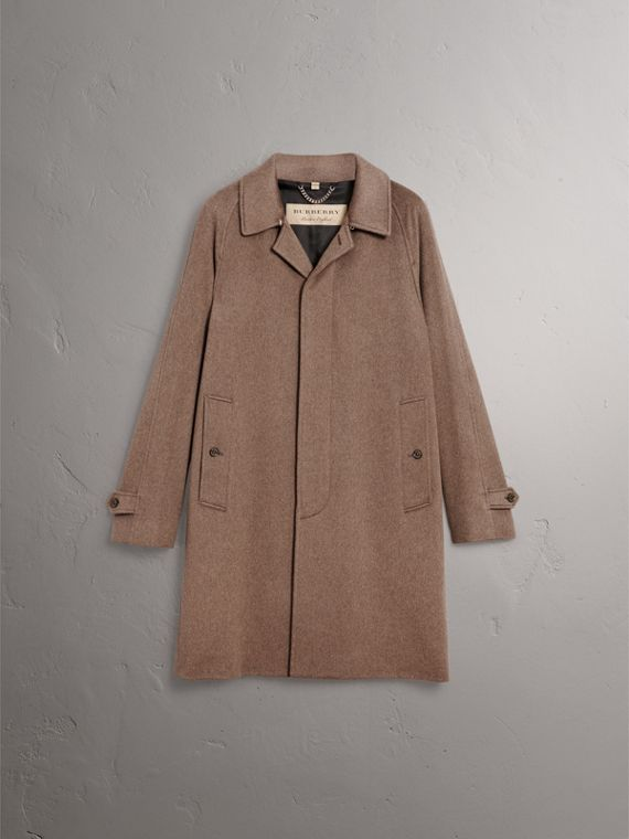 Cashmere Car Coat in Deep Taupe Melange - Men | Burberry Canada - cell image 3