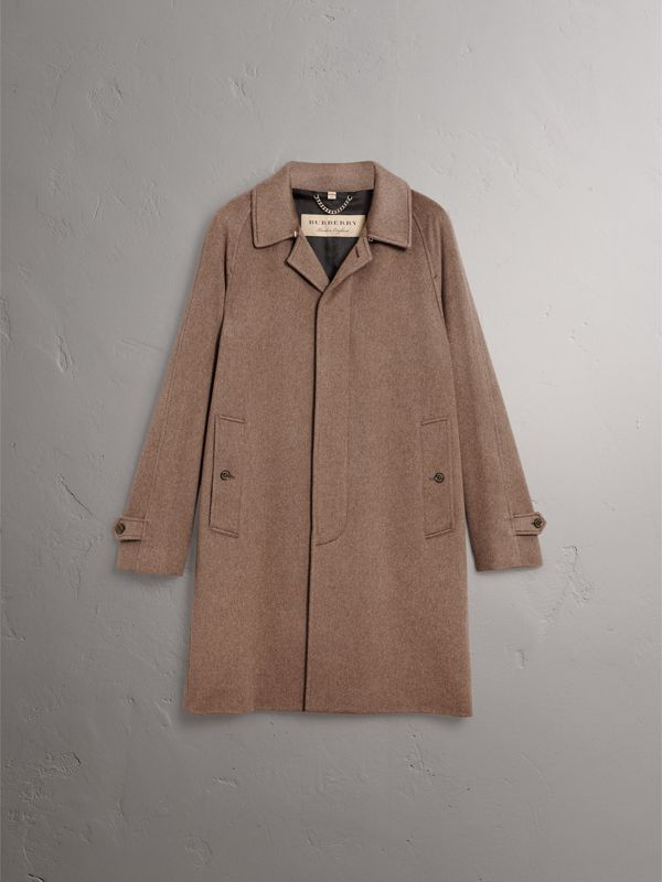 Cashmere Car Coat in Deep Taupe Melange - Men | Burberry - cell image 3