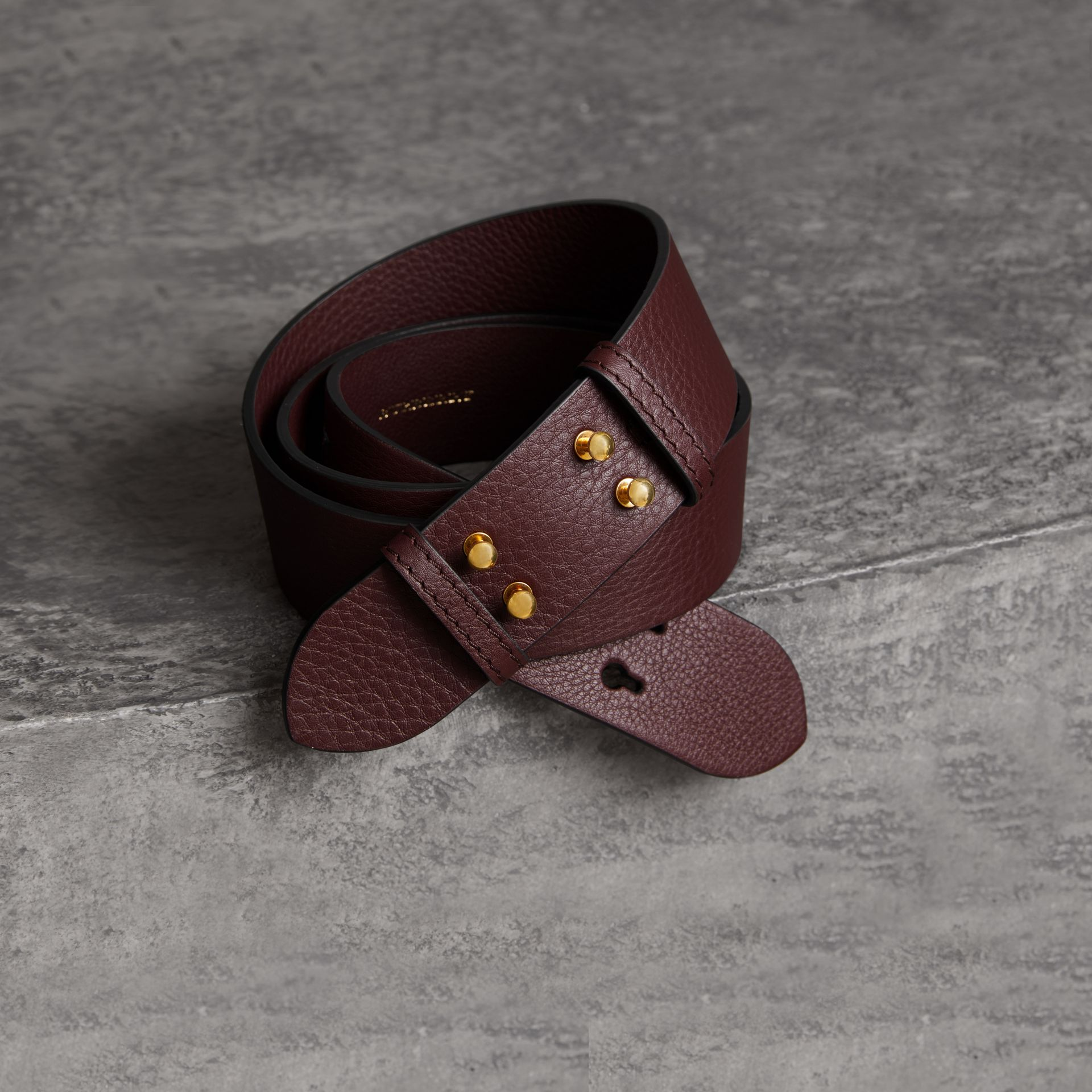 The Medium Belt Bag Grainy Leather Belt in Deep Claret - Women | Burberry - gallery image 0