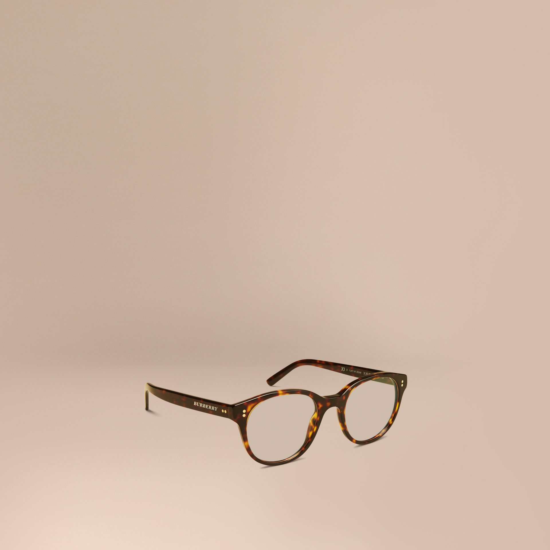 Round Optical Frames Tortoise Shell - gallery image 1