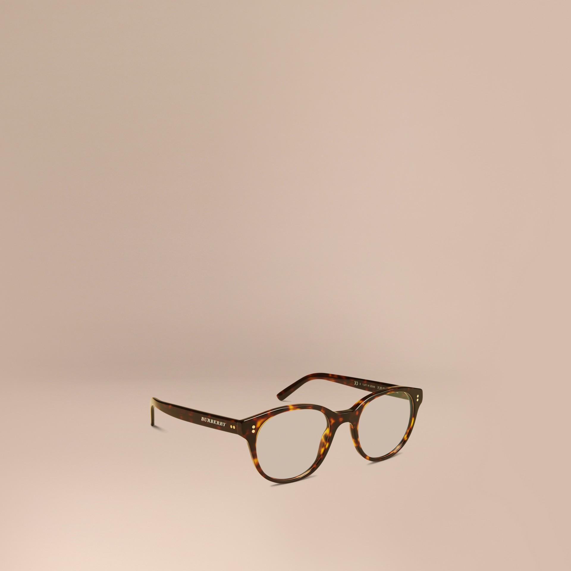 Écaille de tortue Monture ronde pour lunettes de vue Écaille  Tortue - photo de la galerie 1