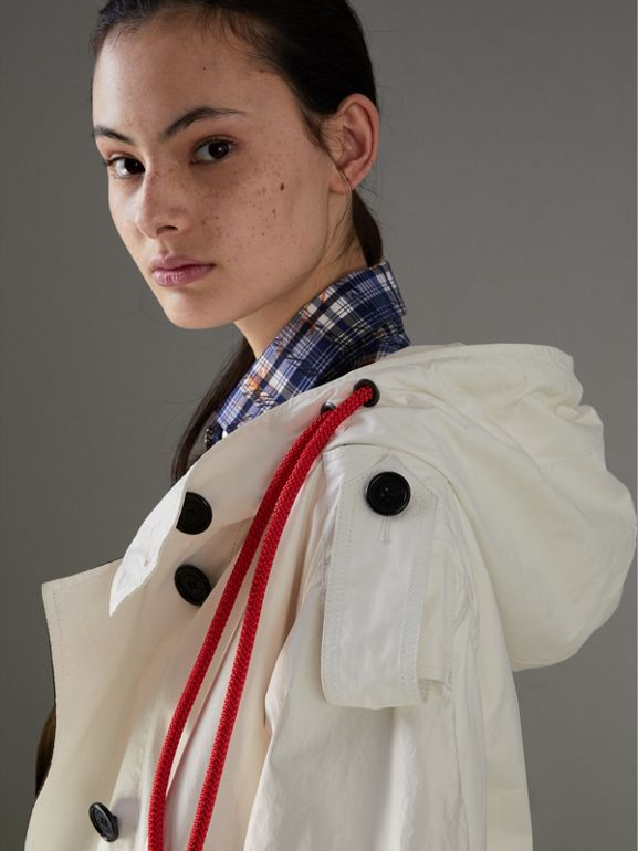 Paper-light Lambskin Parka in Natural White - Women | Burberry - cell image 1