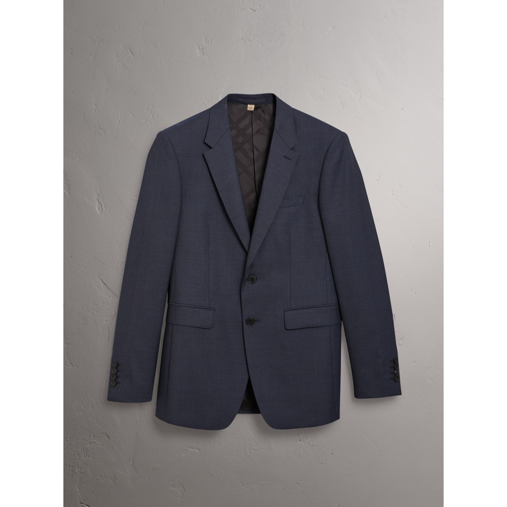 Modern Fit Wool Suit in Navy - Men | Burberry United States - gallery image 3