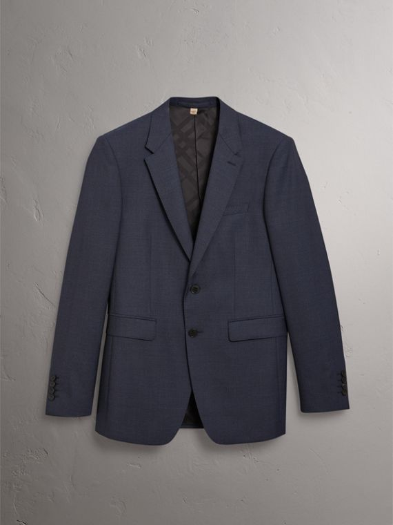 Modern Fit Wool Suit in Navy - Men | Burberry United States - cell image 3