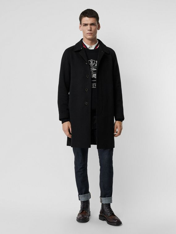 Cappotto car coat in cashmere (Nero)
