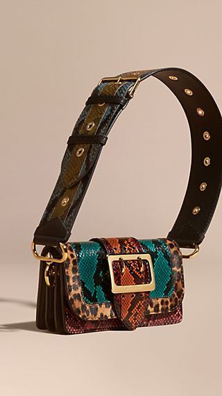The Patchwork in Snakeskin and Leopard-print Calfskin