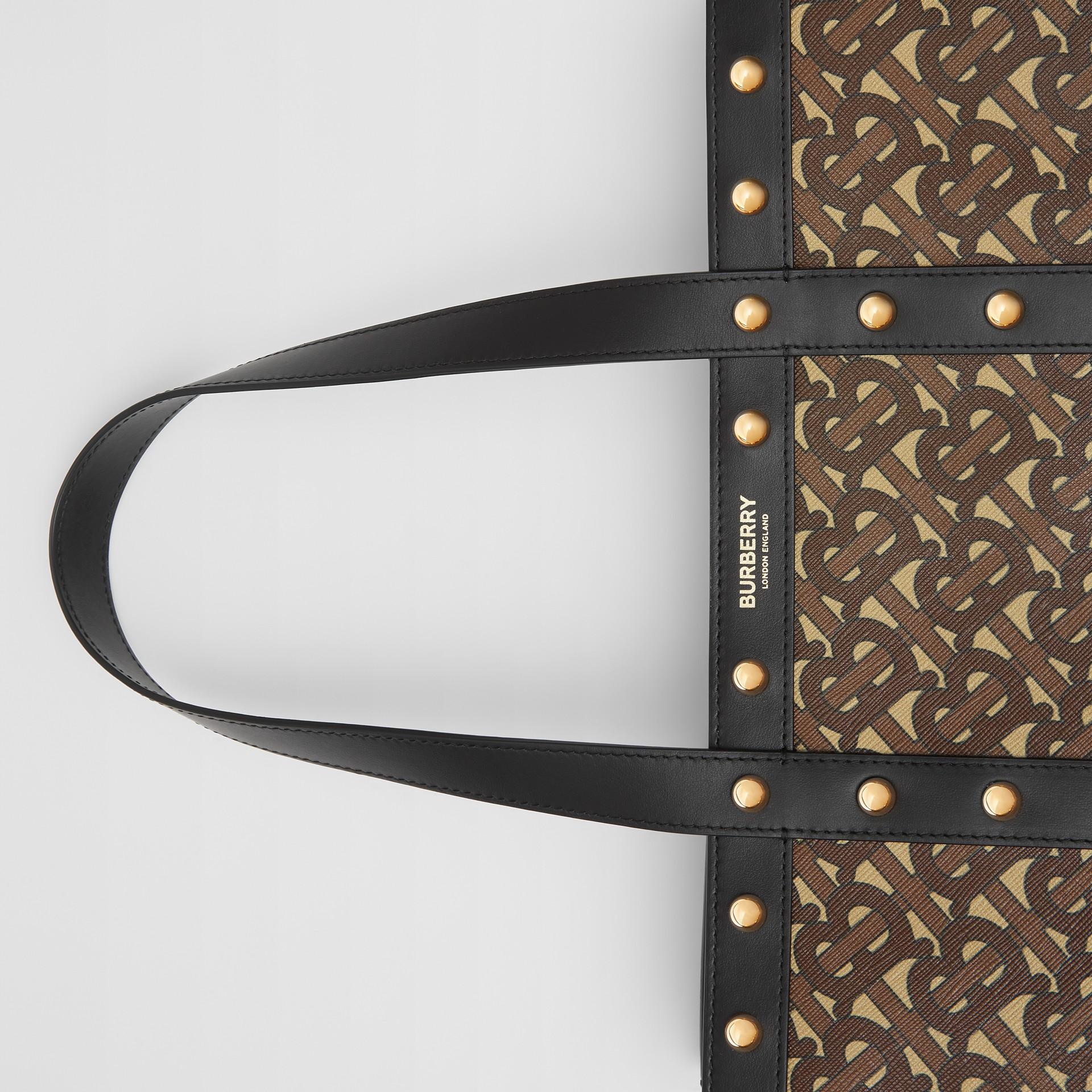 Bolsa Tote em lona ecológica com retrato e estampa de monograma (Preto) | Burberry - galeria de imagens 10