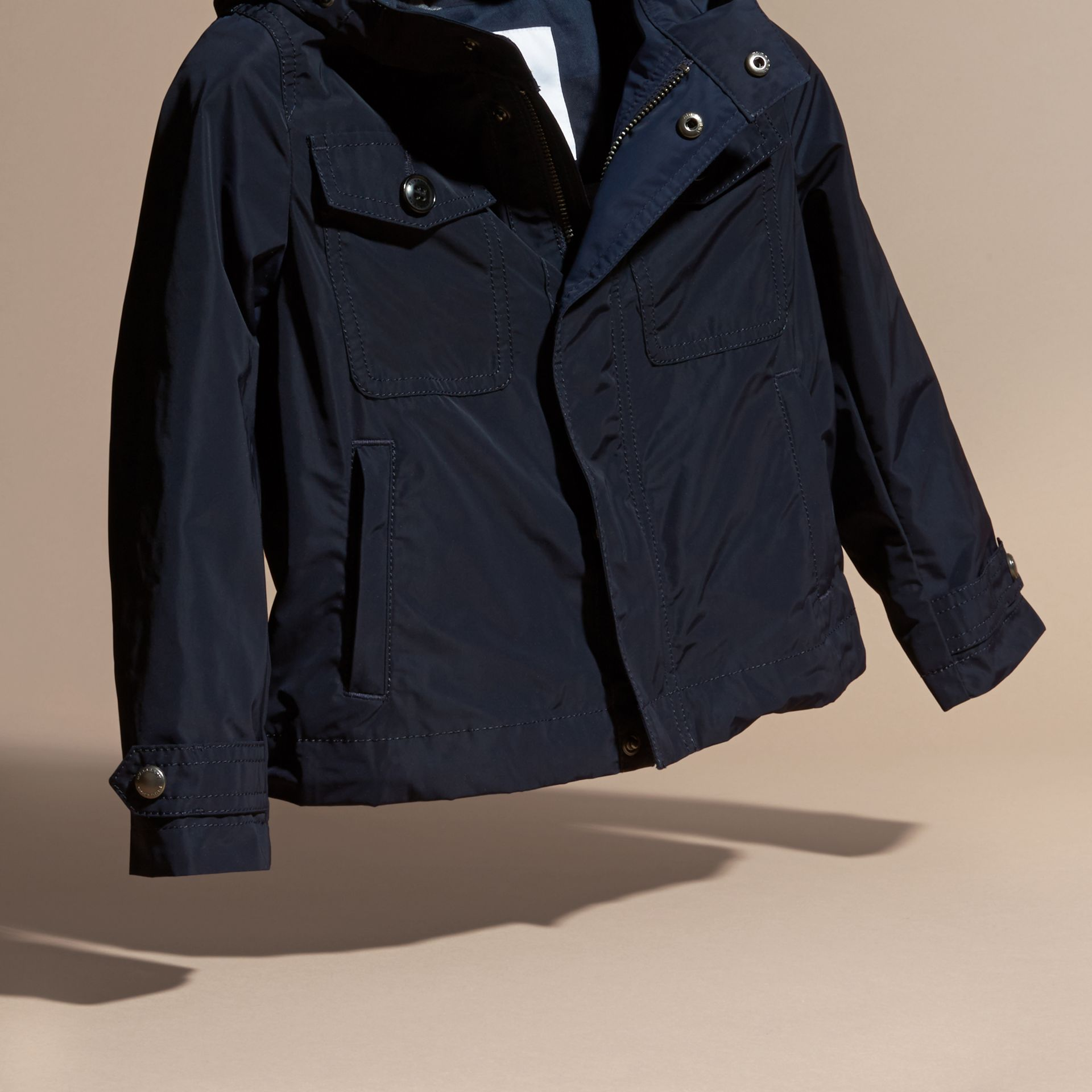 Hooded Field Jacket in Ink - Boy | Burberry United Kingdom - gallery image 3