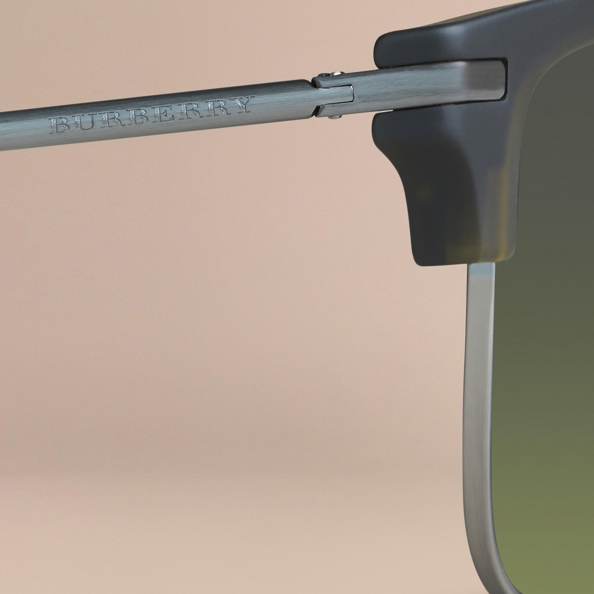 Olive Square Frame Sunglasses Olive - gallery image 2