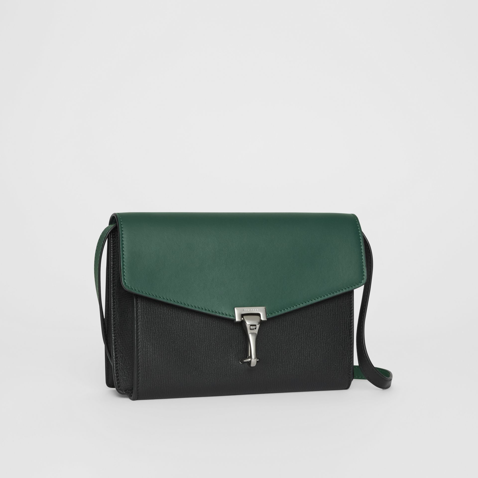 Two-tone Leather Crossbody Bag in Black/sea Green - Women | Burberry - gallery image 6