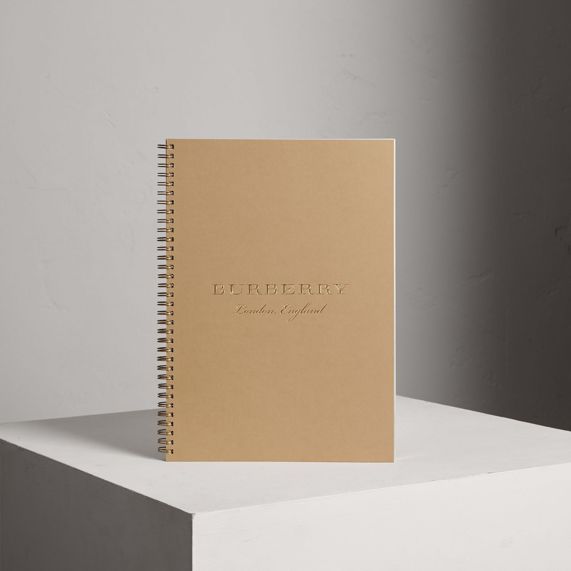 A4 Notebook Refill in Honey | Burberry - gallery image 0