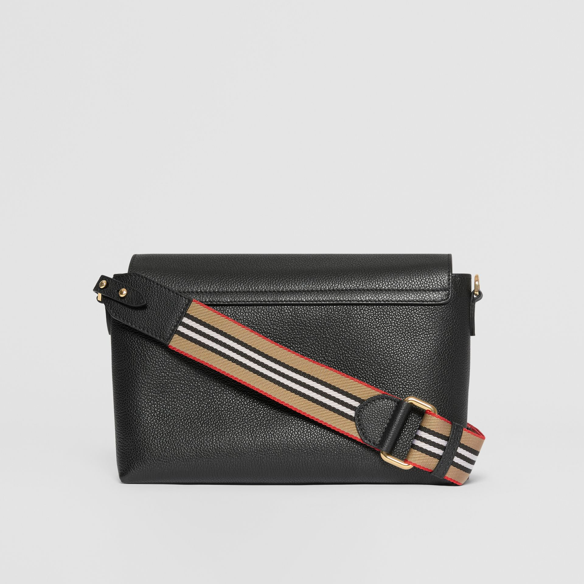 Grainy Leather Note Crossbody Bag in Black - Women | Burberry United Kingdom - gallery image 7