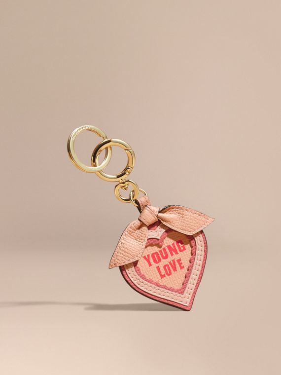 Young Love Motif Leather Key Charm