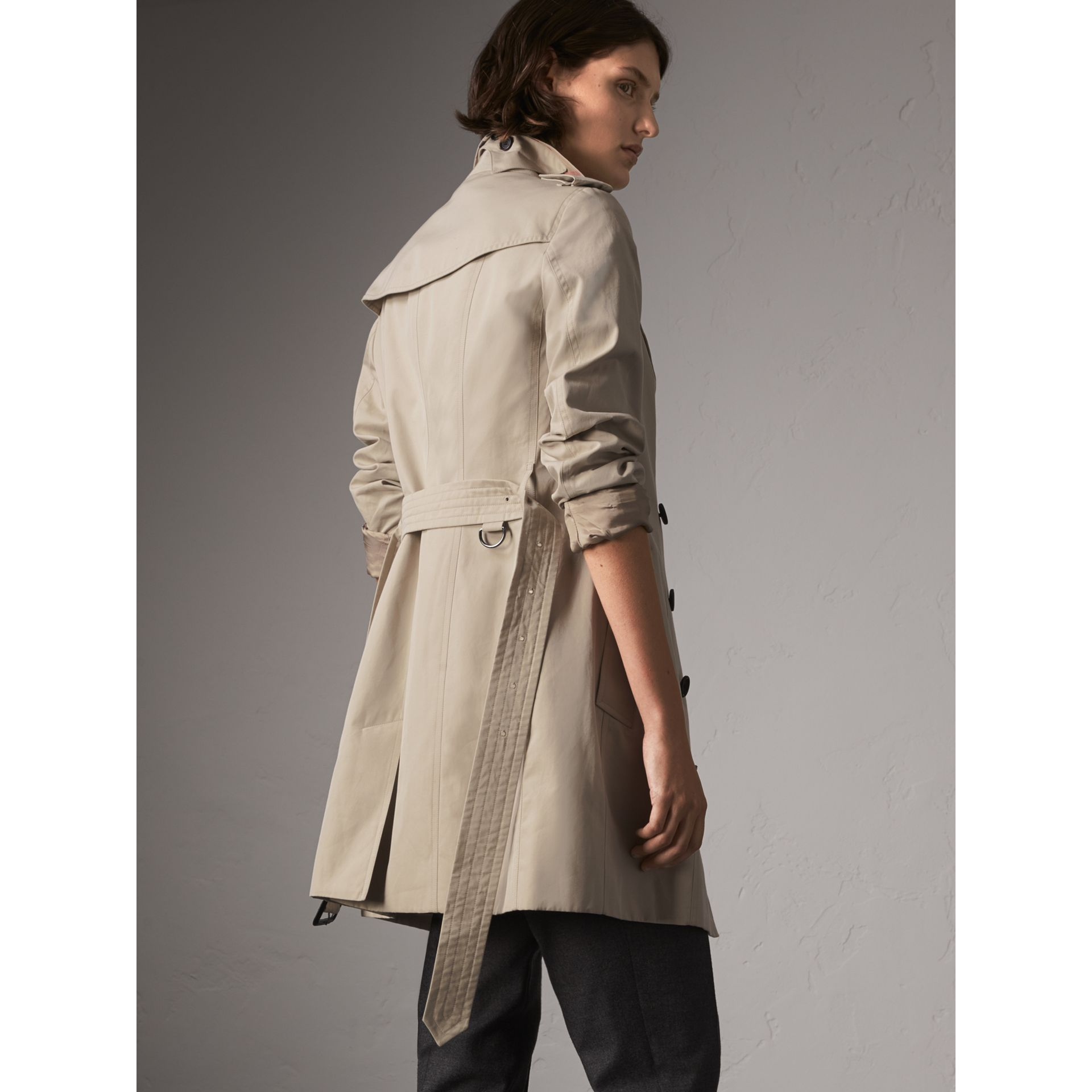 The Sandringham – Mid-length Trench Coat in Stone - Women | Burberry - gallery image 2