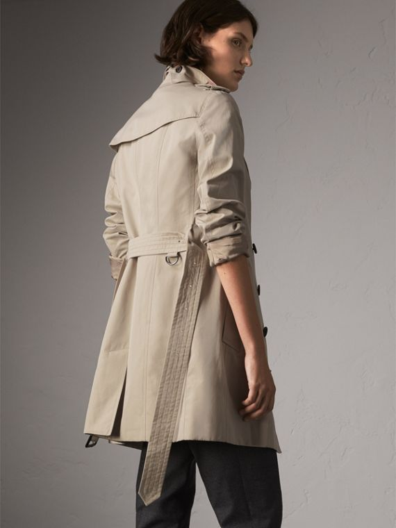 The Sandringham – Mid-Length Heritage Trench Coat in Stone - Women | Burberry - cell image 2