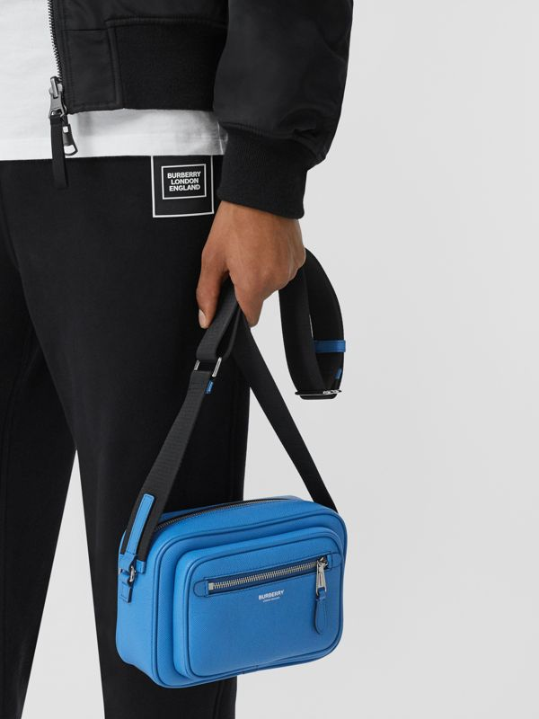 Grainy Leather Crossbody Bag in True Blue - Men | Burberry - cell image 2