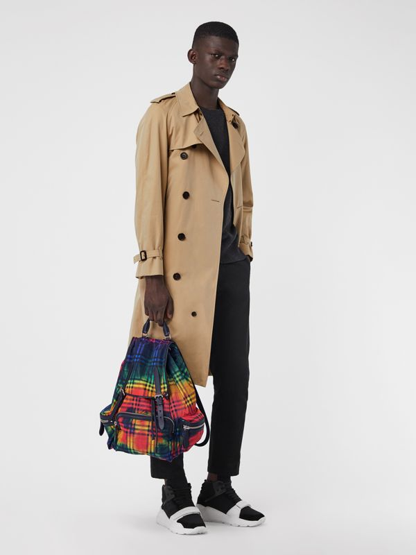 The Large Rucksack in Tie-dye Vintage Check in Multicolour | Burberry Singapore - cell image 2