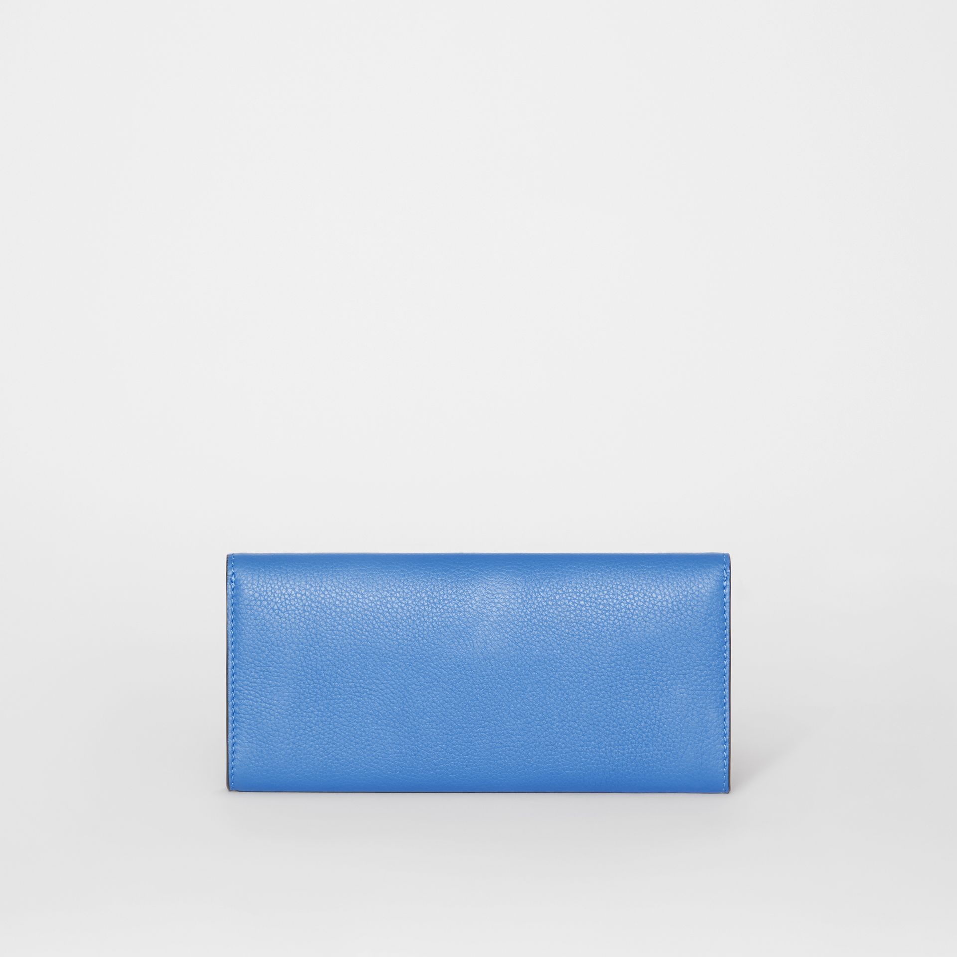 Leather Continental Wallet in Hydrangea Blue - Women | Burberry Australia - gallery image 5