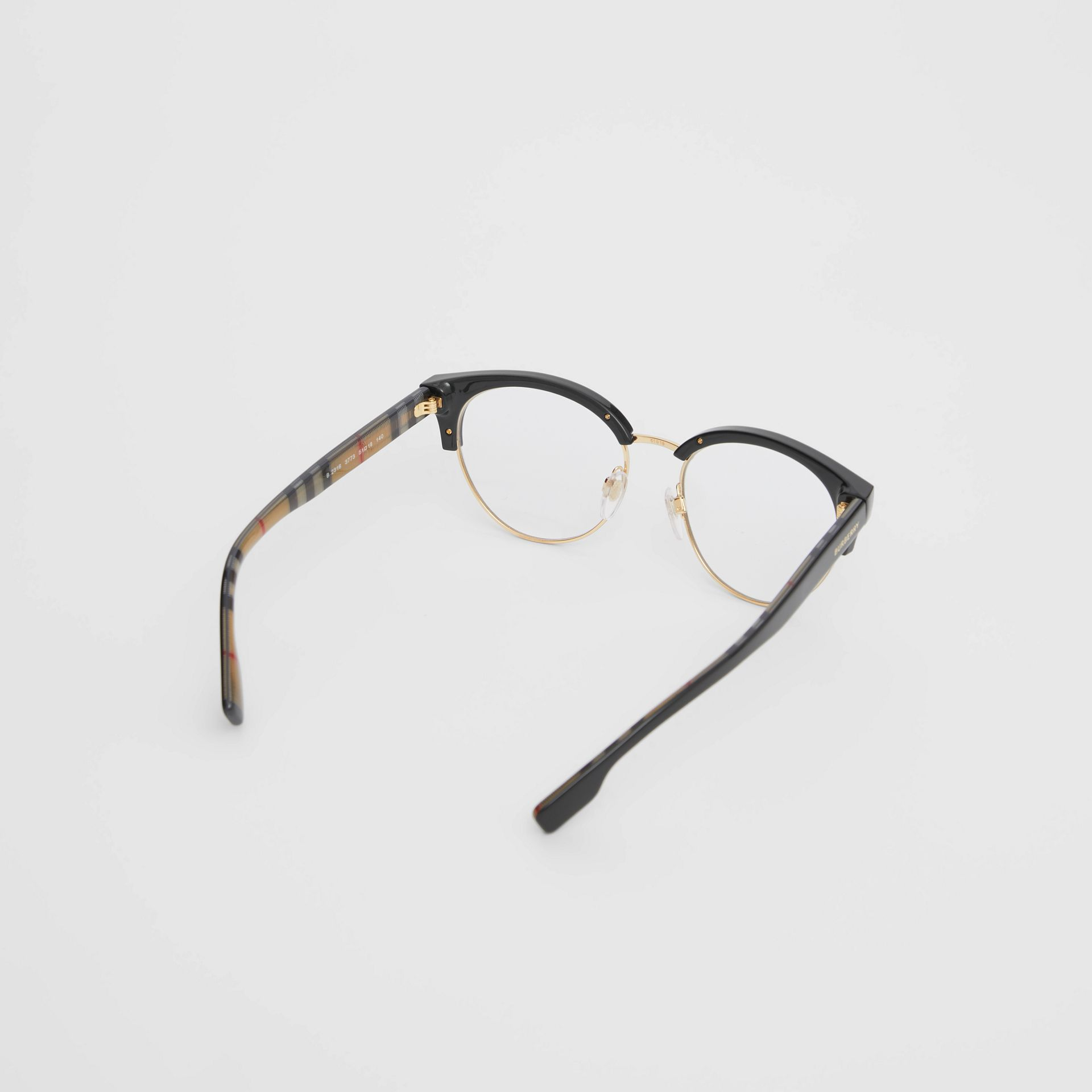 Cat-eye Optical Frames in Black/beige - Women | Burberry - gallery image 4