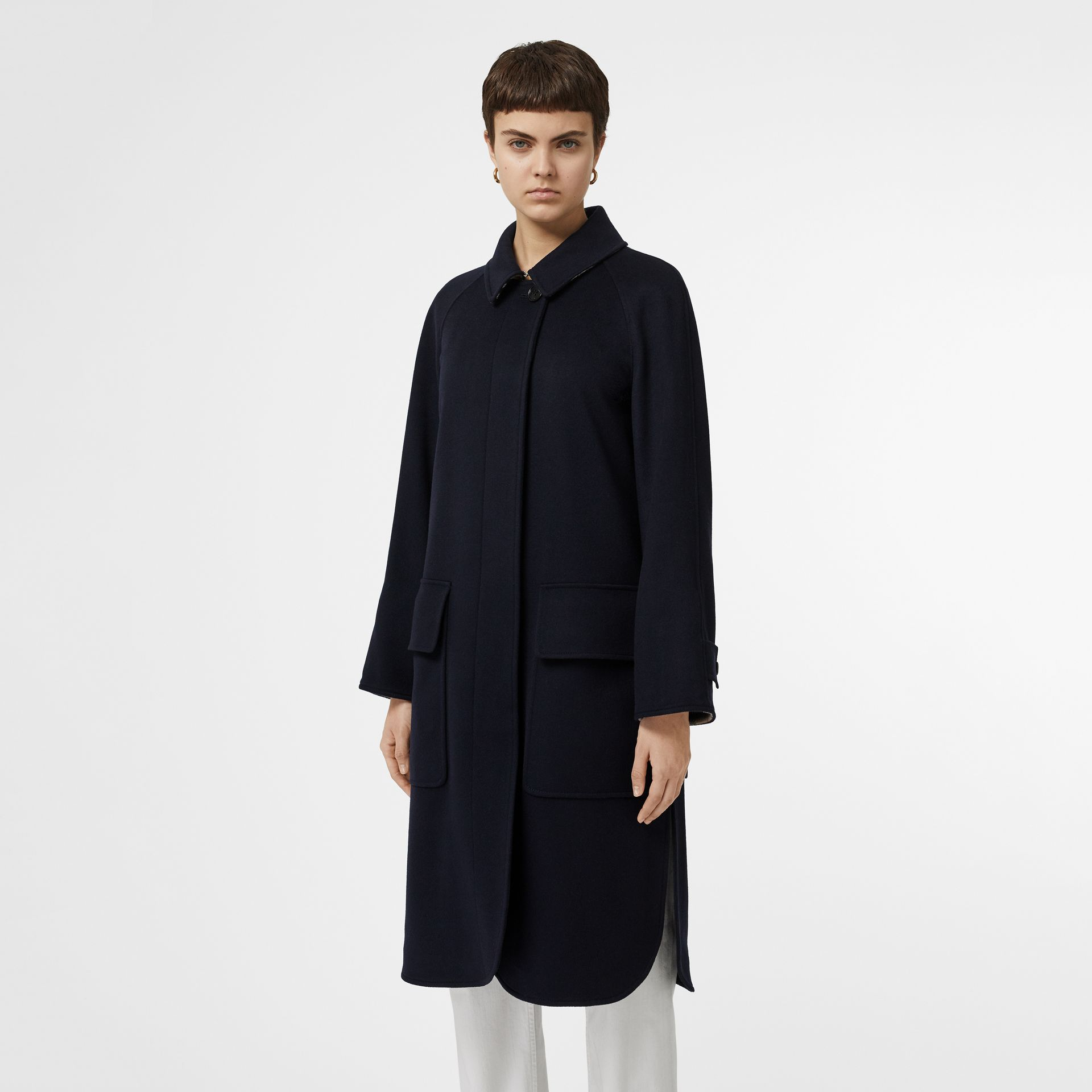 Cashmere Car Coat in Dark Ink Blue - Women | Burberry - gallery image 6