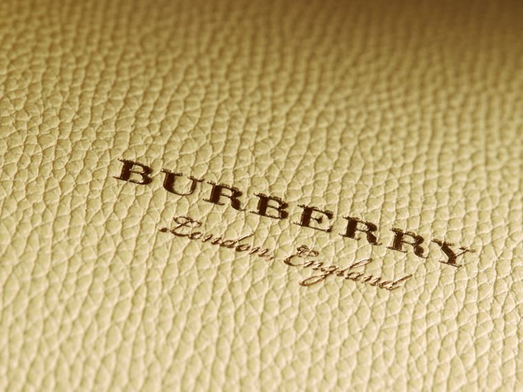 The Medium Banner aus Leder und House Check-Gewebe (Kamillengelb) - Damen | Burberry - cell image 1