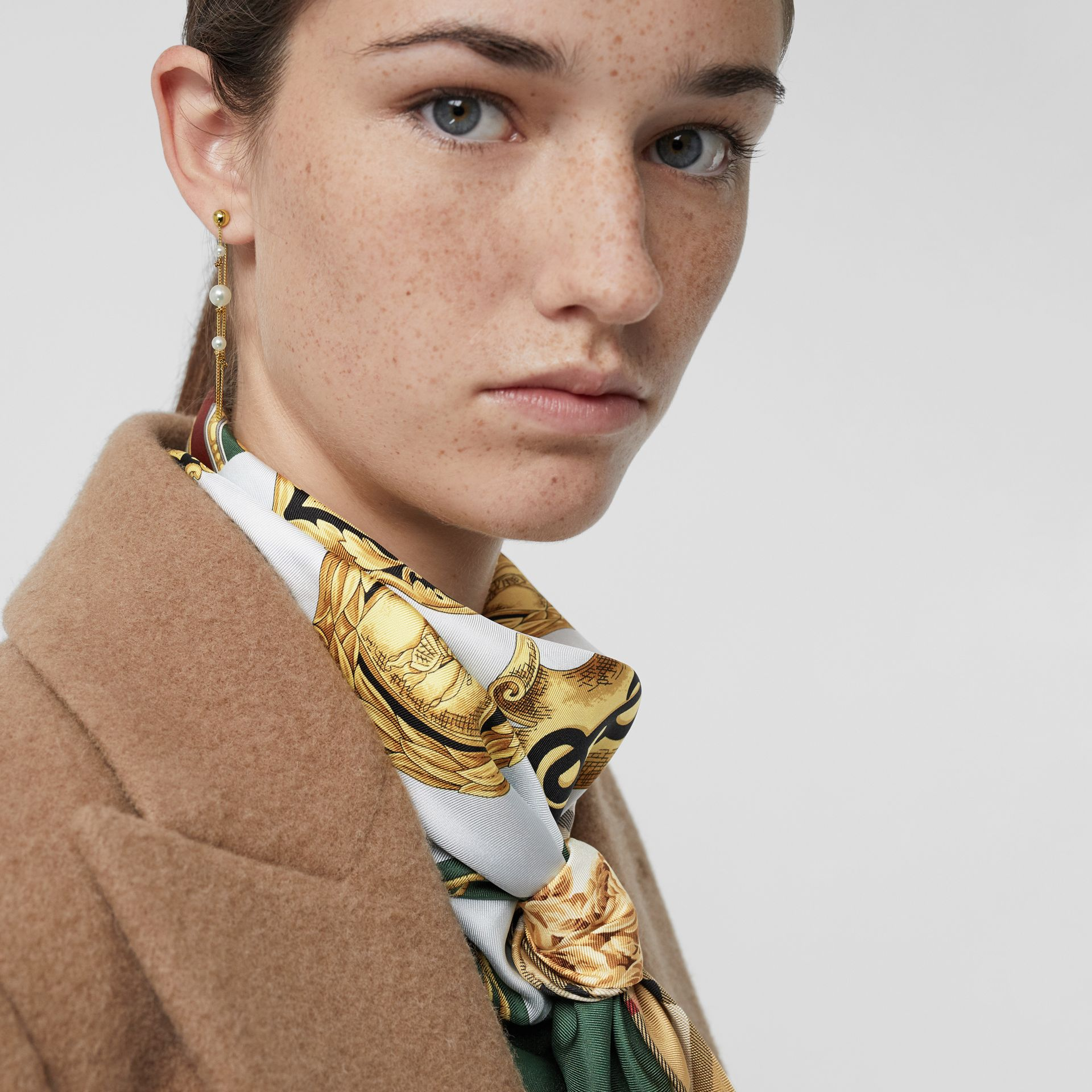 Faux Pearl Gold-plated Drop Earrings in Light - Women | Burberry United States - gallery image 2