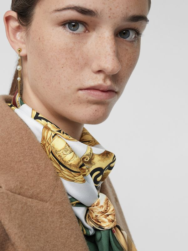 Faux Pearl Gold-plated Drop Earrings in Light - Women | Burberry United States - cell image 2