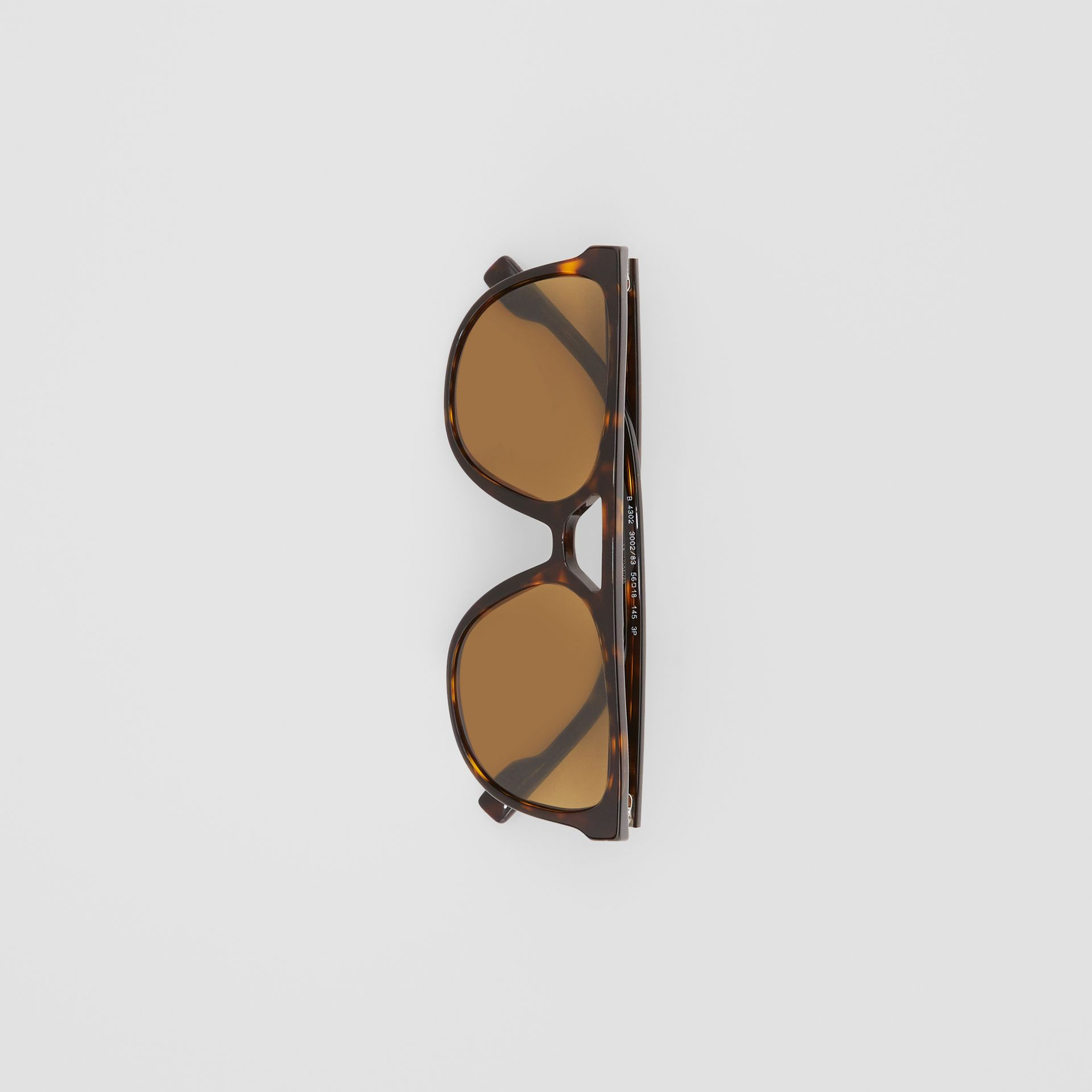 Navigator Sunglasses in Tortoiseshell - Men | Burberry - gallery image 3