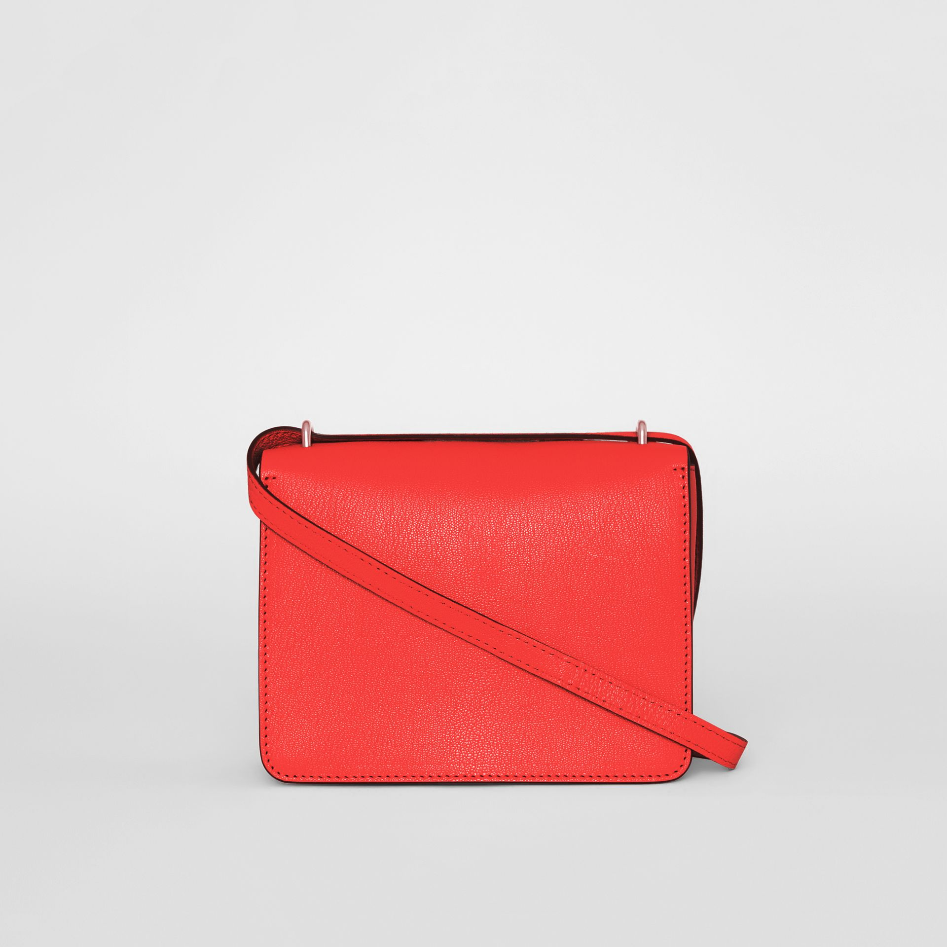 The Small Leather D-ring Bag in Bright Red - Women | Burberry - gallery image 7